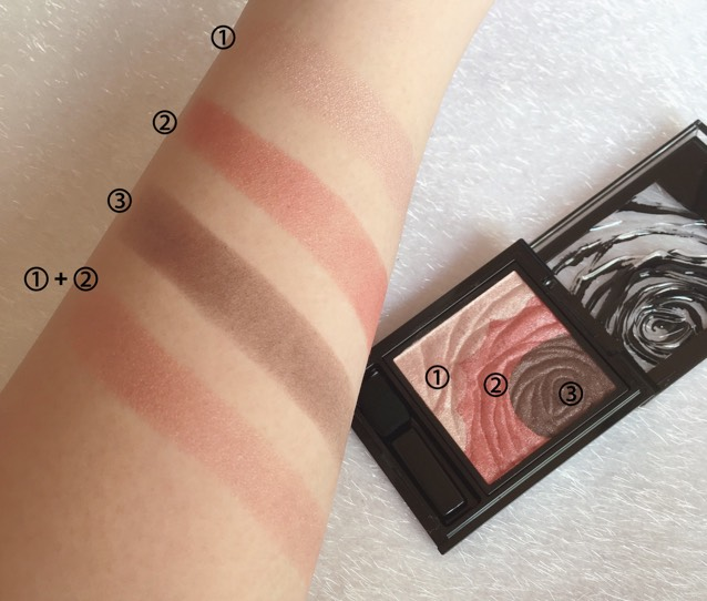 ケイト ダークローズシャドウでピンクブラウンメイクのBefore画像