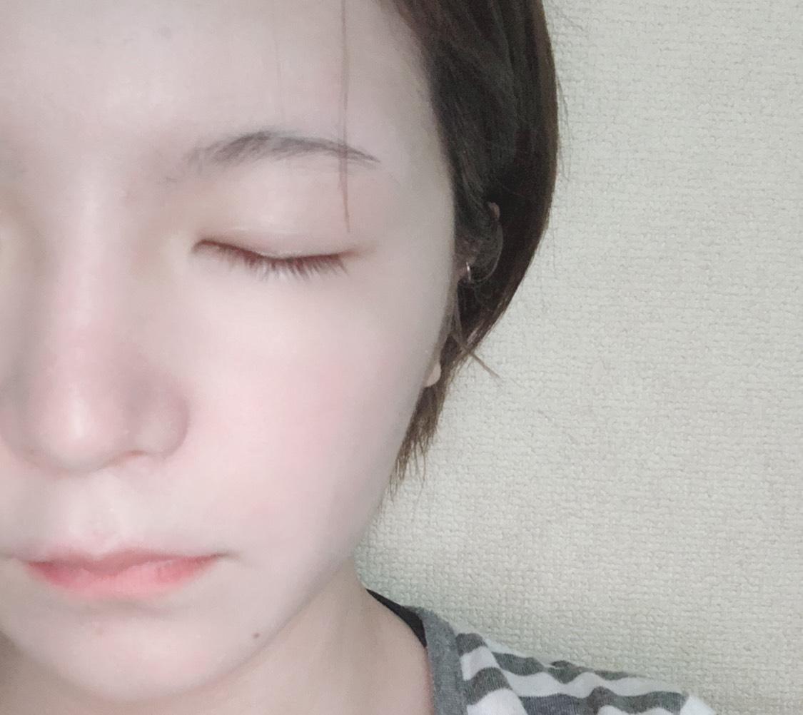 お泊りOK!時短すっぴん風メイクのBefore画像