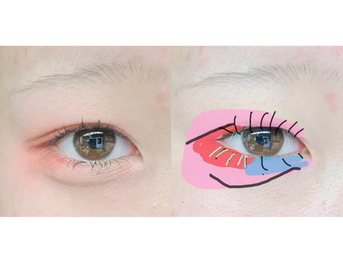 8.(キ)を目尻側の下まつ毛に塗ります