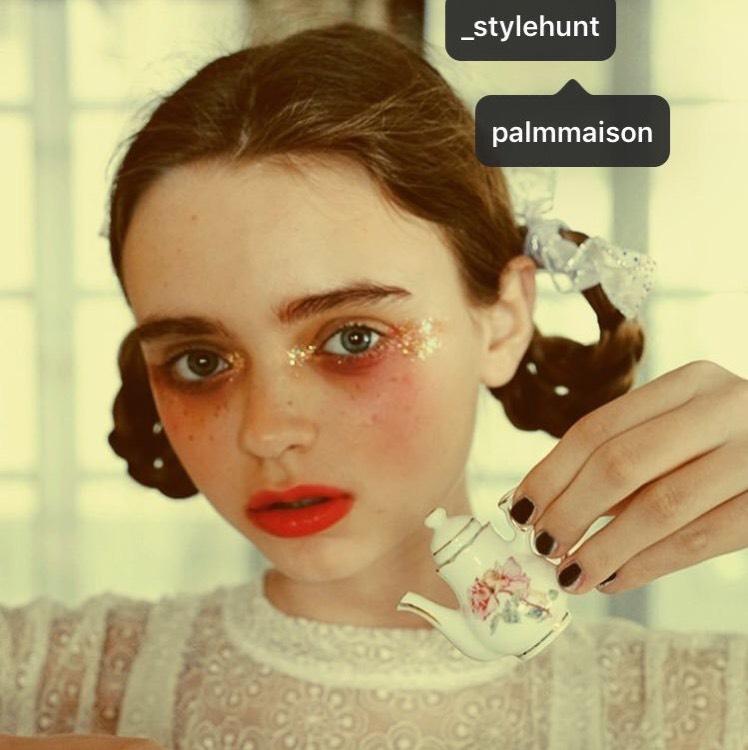 palmmaison風メイクのBefore画像