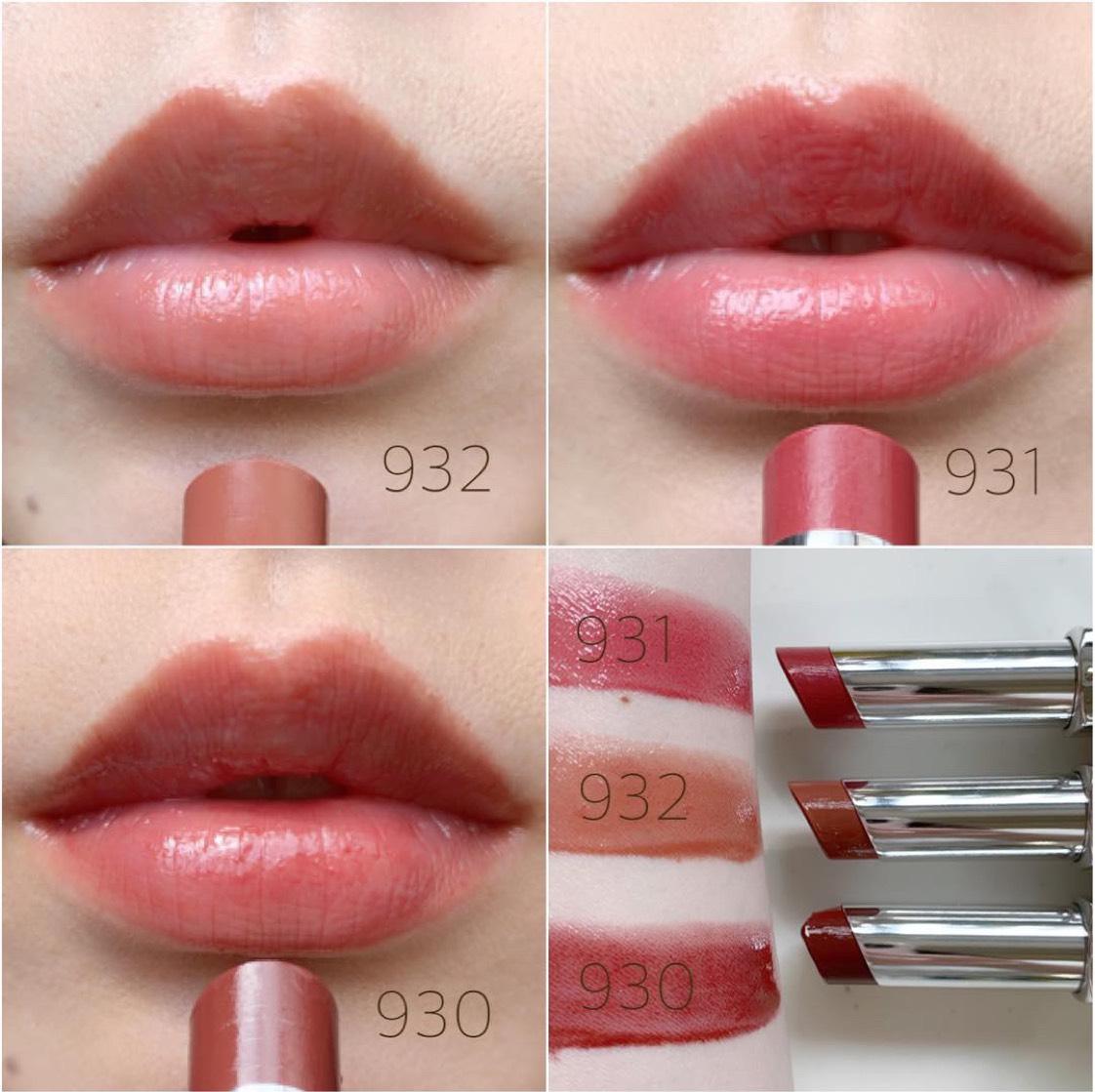 素の唇に1度塗り💛 ↓↓↓ こちらは素の唇にon💨 リップ本体を見ると濃く発色するように見えるけど、1度塗りなら普段使いもしやすい👍