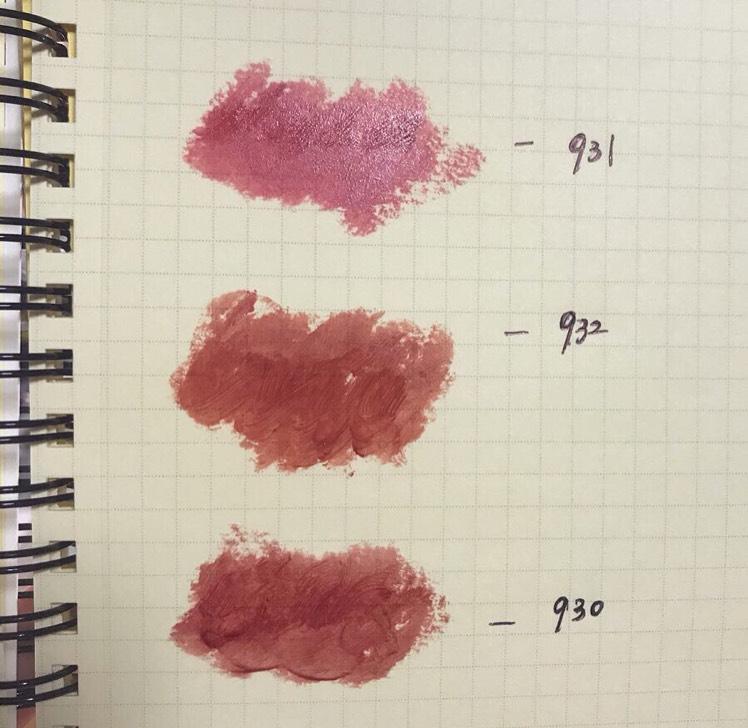 ロレアルパリシャインオンリップの新色3色です。 くすみカラーが今っぽくて可愛い!
