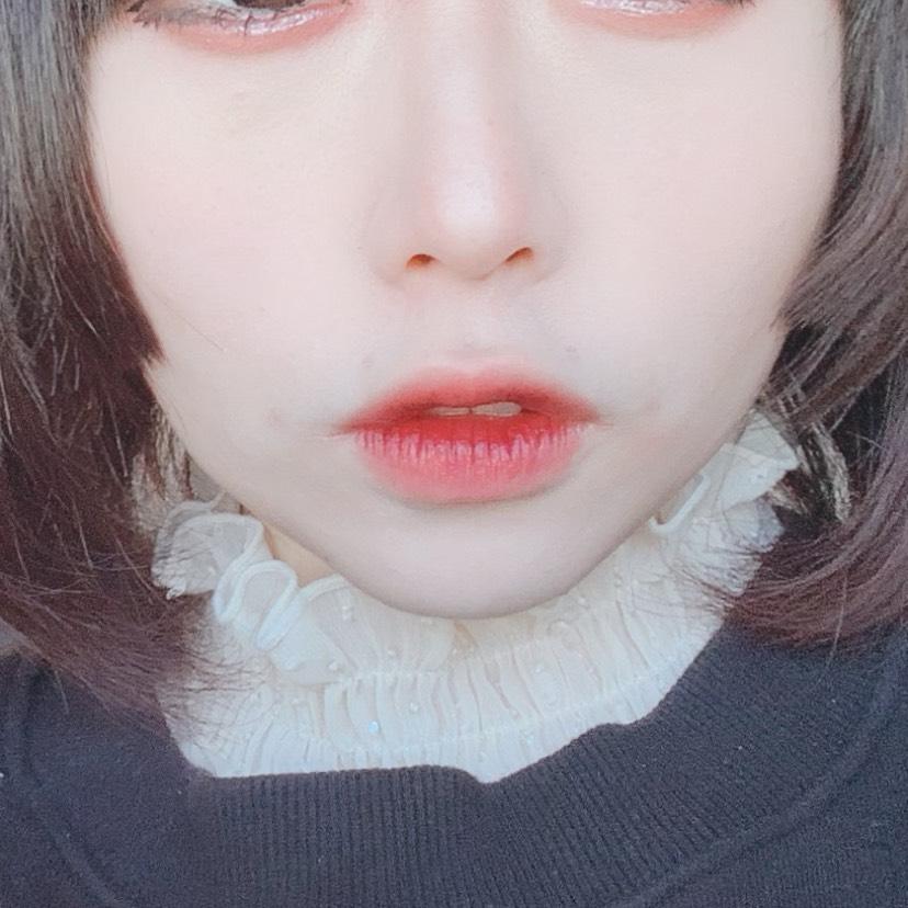 人中短縮&顎無し&中顔面長いをカバーするリップメイクのBefore画像