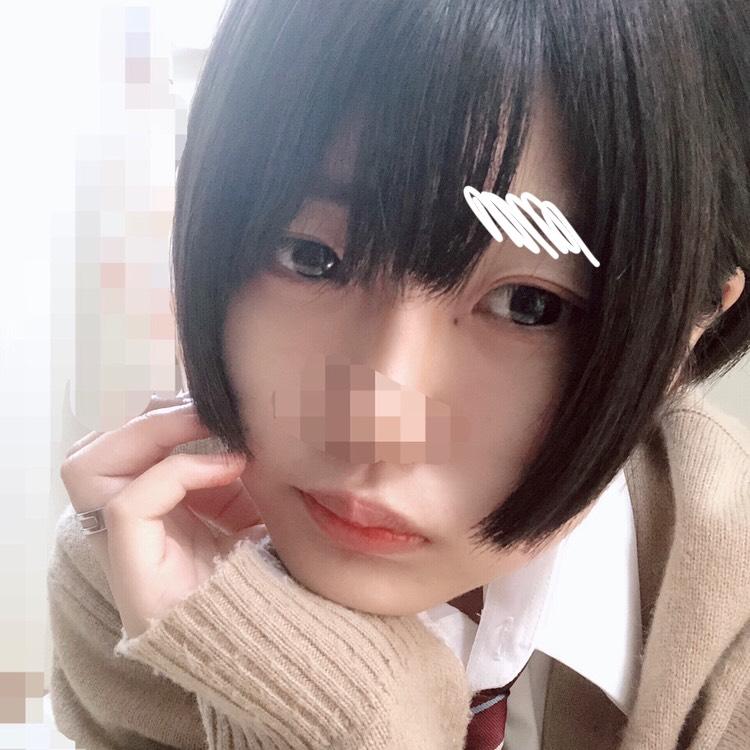 普段メイク&男装(風)