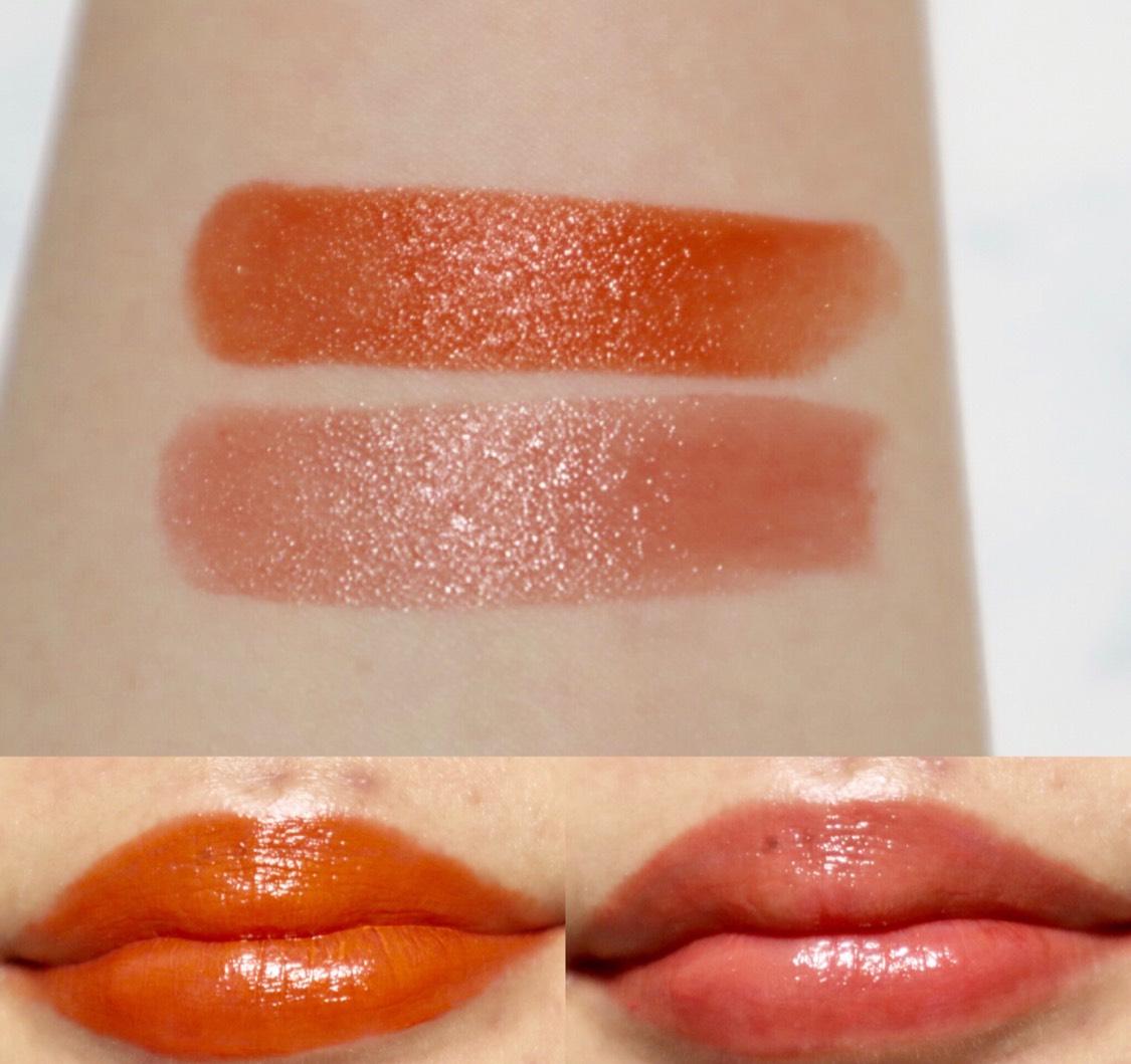 サンレイユがかなりビビッドなオレンジ!こんなにオレンジなリップは持っていないので新鮮。 フィアーストックは肌馴染みが良くて普段使いしやすい! つけた感じ、伸びがすごく良くてツヤ感も綺麗。 保湿感もあるので、つけ心地が良いです。 細めのリップスティックなので、塗りやすいです。 ただ、ティントっていうほど色持ちは良くなく、普通に落ちます。 パケもおしゃれでいいですね!  sakuraim公式サイトとアインズ&トルペで販売されるそうです。