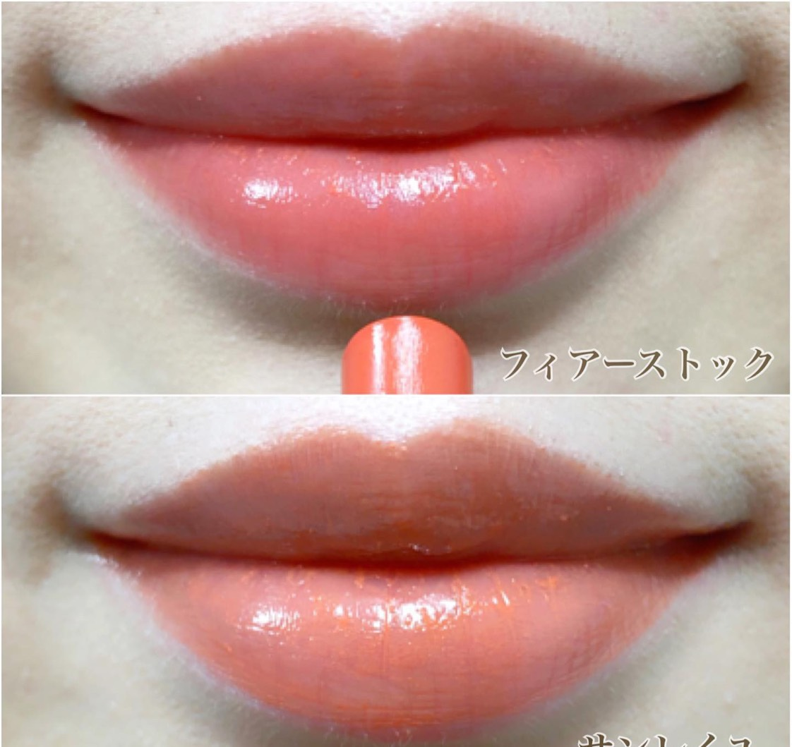 オレンジ系とレッド系の2色展開で、スルスルと伸びがいいのが特徴🎶 ティントタイプで持ちもいいし、それでいてくちびるのカサつきが感じにくいんです😳❤️ * * 唇が薄い人も塗りやすい細型スティックで、ポーチにも入れやすいサイズ感💓 * *