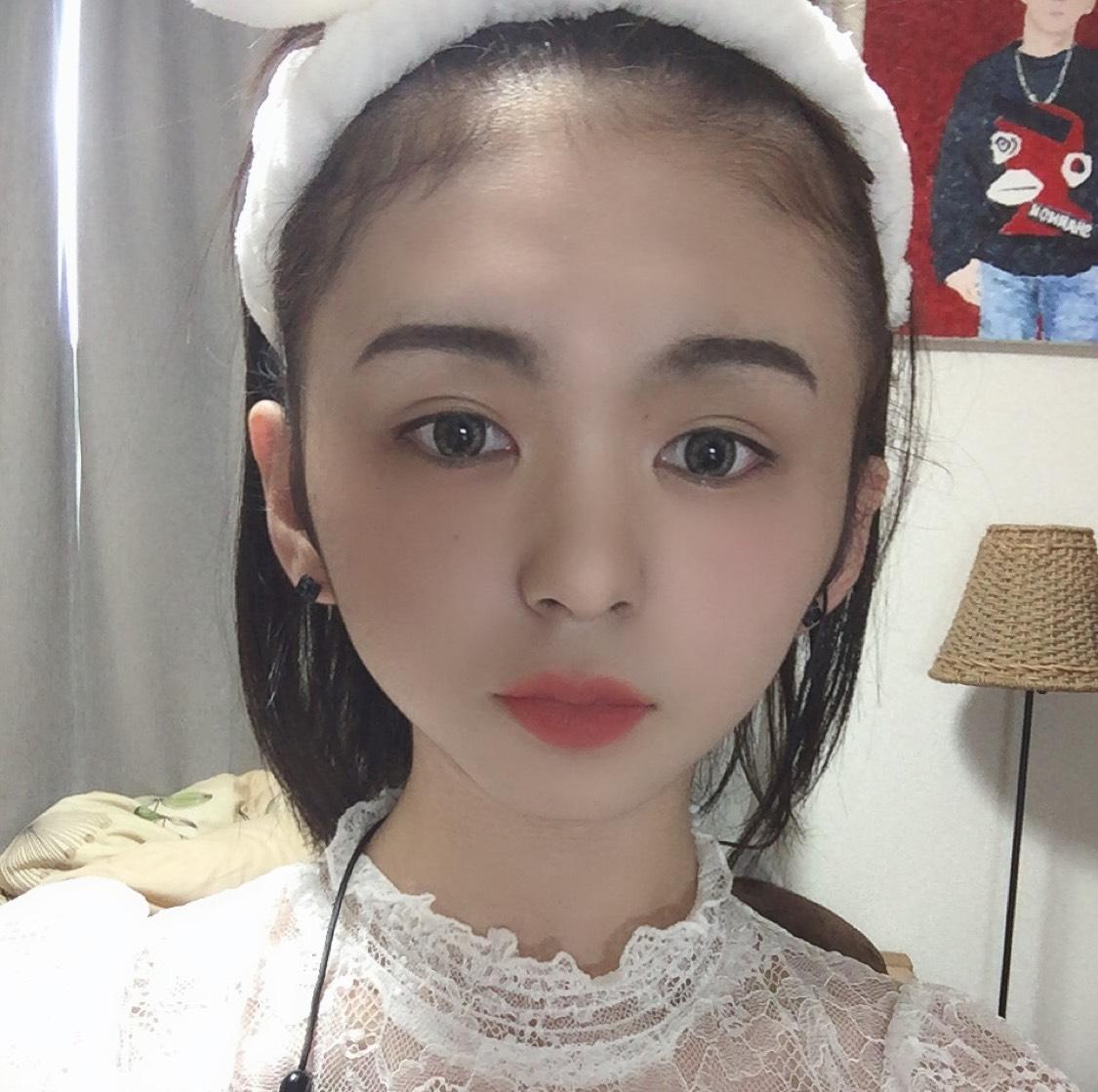 くすみピンクメイク♡のBefore画像
