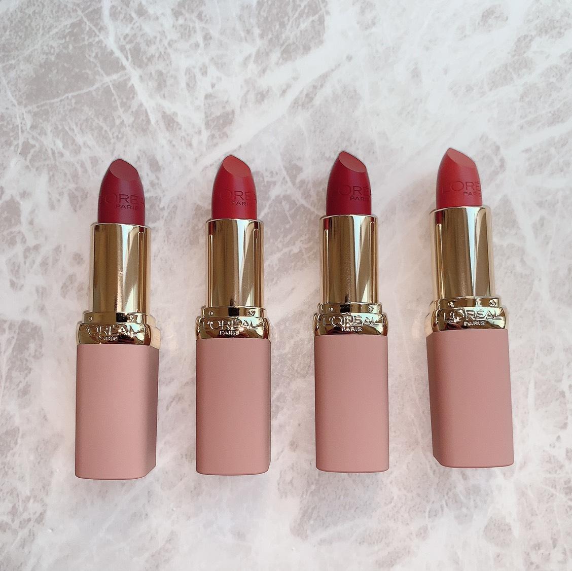 11月15日発売のロレアルパリ  モイストマットN ヌードフリーザコレクション 全8種のうちヌードブラウンカラーの4色をレポ♥️