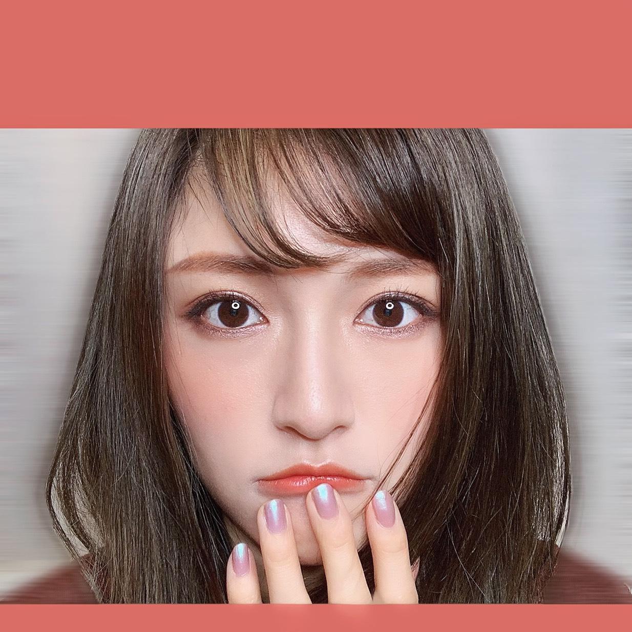 桐谷美玲風キャットメイクのAfter画像