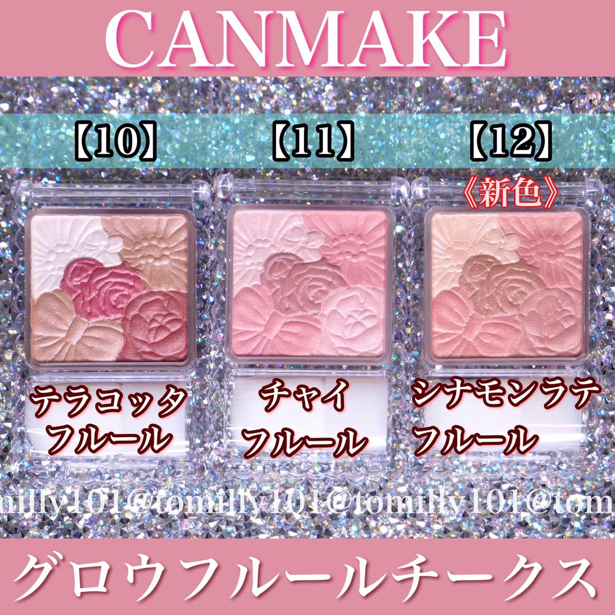 【キャンメイクチーク】新作・既存色比較のBefore画像