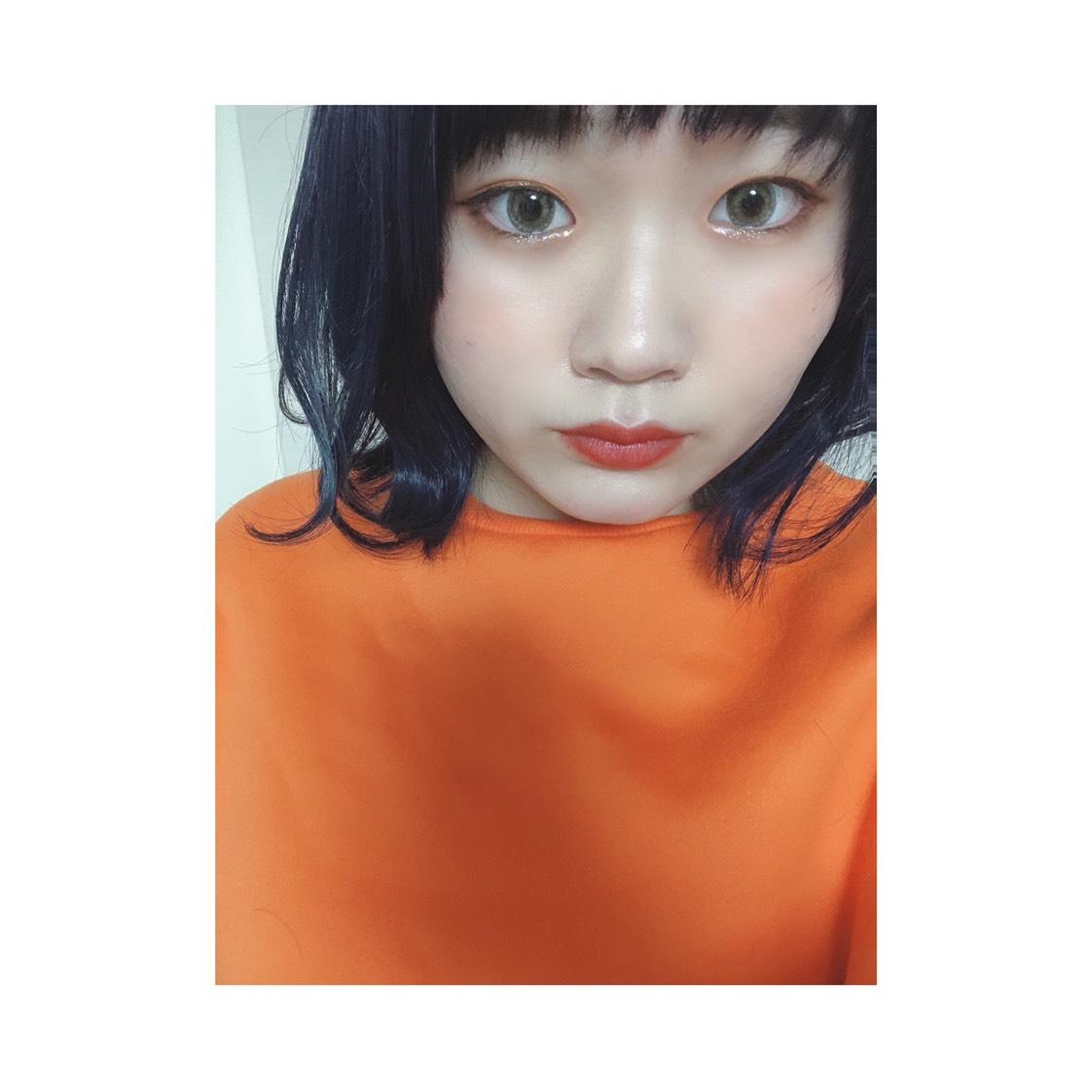 キラキラオレンジメイク