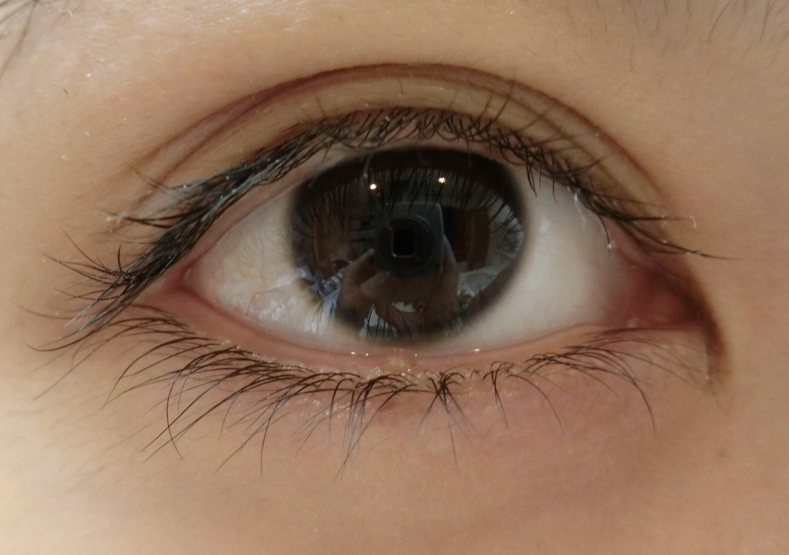 すっぴんの目