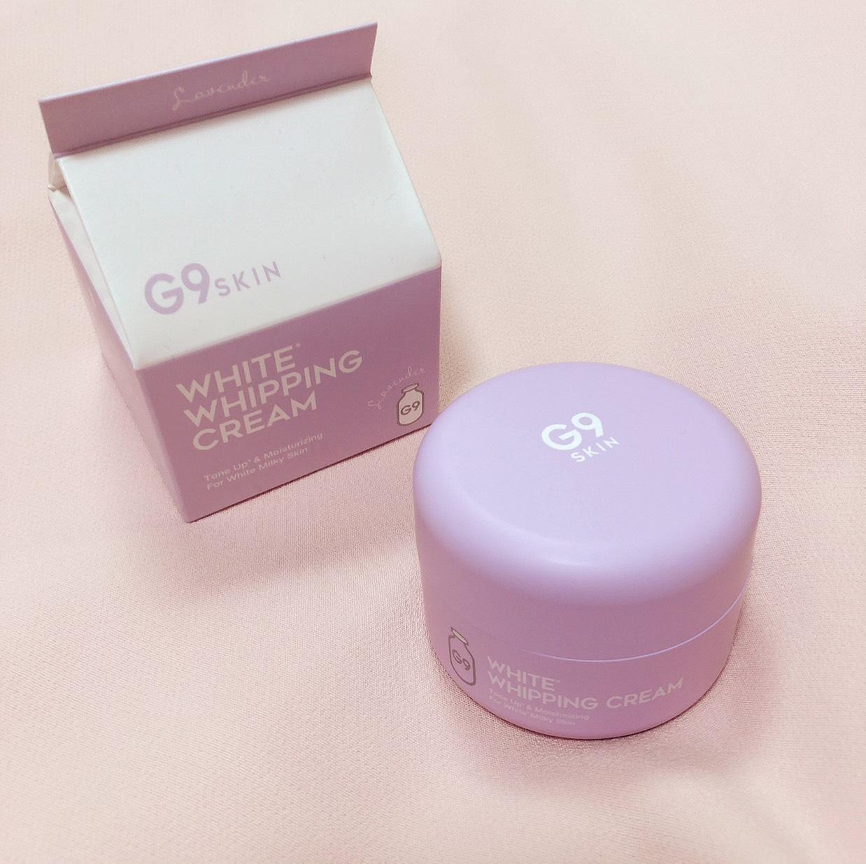 G9SKIN ホワイトホイッピングクリーム Lクリーム ラベンダー♡